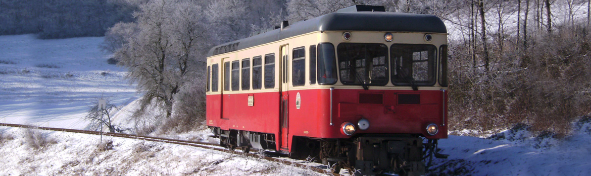 Brohltalbahn - a special event also in winter.